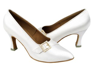 "C6904 White Satin with 2.75"" heel in the photo"