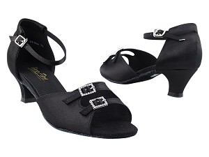 "1620 Black Satin with 1.3"" Heel in the photo"