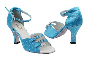 "1620 Blue Flower with 3"" Heel in the photo"