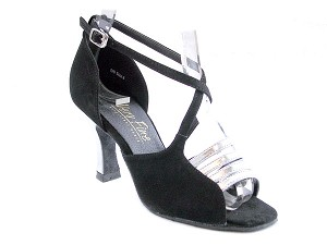 "1651 Silver Leather & Black Nubuck with 3"" Heel in the photo"
