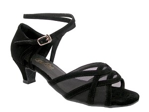 1657 Black Nubuck & Black Mesh & Cuban Heel