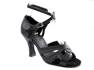 "1658 Black Lether with 3"" Heel in the photo"
