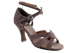 "1658 Brown Nubuck with 3"" Heel in the photo"
