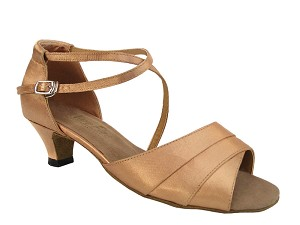 "1659 Brown Satin with 1.3"" Heel in the photo"