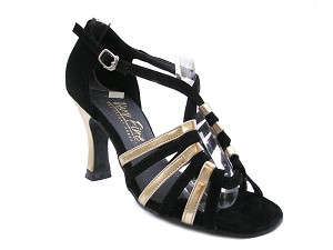 "1661 Black Nubuck & Gold Leather with 3"" Heel in the photo"