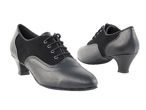 "1688 Black Nubuck & Black Leather with 1.3"" heel in the photo"