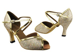 2721 Gold Sparklenet & Gold Leather Trim