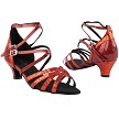 "5008Mirage Red Sparkle & Red Patent with 1.3"" Heel in the photo"