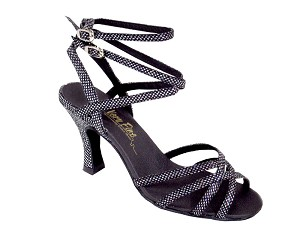 "5009 Black Sparklenet with 3"" Heel in the photo"