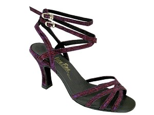 "5009 Purple Illusion with 3"" Heel in the photo"