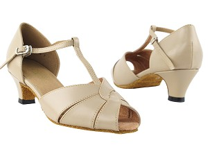"6006 Tan Leather with 1.3"" Heel in the photo"
