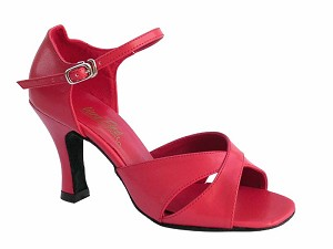 "6029 Red Leather with 3"" Heel in the photo"