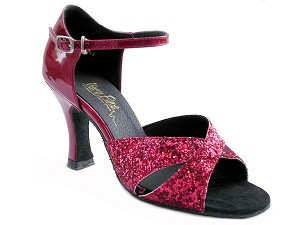 "6029 Red Sparkle & Red Patent with 3"" Heel in the photo"