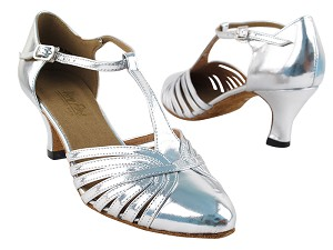 "6829 Silver Leather with 2.5"" low heel in the photo"