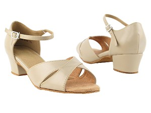 "803 Tan Leather with 1.5"" Medium Heel in the photo"