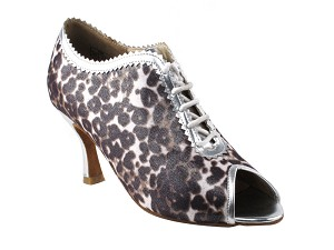 "CD3023 Silver Leopard with 3"" Flare heel in the photo"