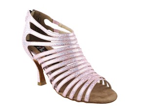 "CD3026 Pink with 3"" Flare heel in the photo"