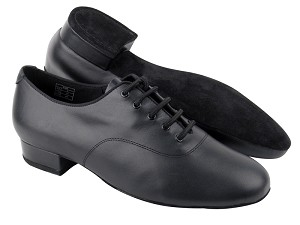 "CD9411 Black Leather with 1"" standard heel"