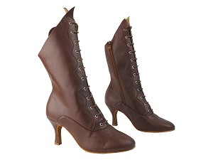 "VFBoot SERA CanCan Dark Tan Leather with 2.75"" Heel in the photo"