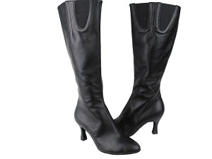 PP205 Boots Black Leather
