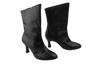 PP205A Ankle Boot Black Leather