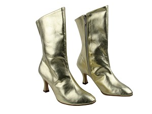 PP205A Ankle Boot Gold Leather