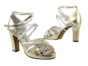 1662BPlatform Gold Leather_Silver Leather