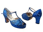 6006Platform Navy Blue Sparkle