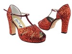 6006Platform Red Sparkle_Whole Shoes
