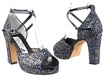 6012Platform 72 Blue Sparkle_Whole Shoes