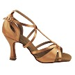 "S1002 Tan Satin with 3"" Heel in the photo"