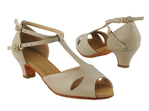 "S2803 Beige Leather with 1.2"" Cuban Heel in the photo"