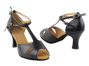 "S2803 Black Leather with 2.5"" Heel in the photo"