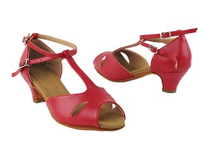 "S2803 Red Leather with 1.2"" Cuban Heel in the photo"