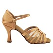 "S2805 Tan Satin with 3"" Heel in the photo"