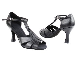 "S2806 Black Leather with 3"" Heel in the photo"