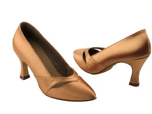 "S9171 Tan Satin with 2.75"" heel in the photo"