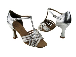 "S92304 Silver Scale & Silver with 3"" Flare heel in the photo"