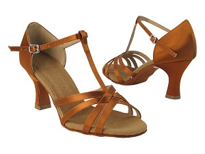 "S9235 Copper  Tan Satin with 2.5"" PG Heel in the photo"