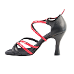 "S9261 Black_Red Leather with 3"" Heel in the photo"