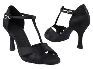 "SERA1144 Black Satin with 3"" heel in the photo"