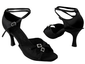 "SERA1153 Black Satin with 3"" heel in the photo"