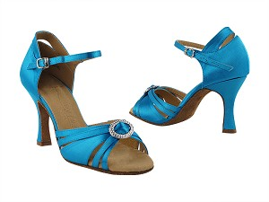 "SERA1154 Blue Satin with 3"" heel in the photo"