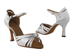 "SERA1154 Ivory Satin with 3"" heel in the photo"