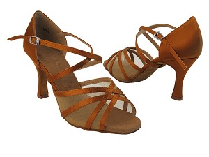 SERA1605 Dark Tan Satin