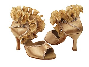 "SERA7013 Gold Tan with 3"" heel in the photo"
