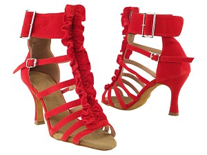 "SERA7026 Red Velvet with 3"" Heel in the photo"