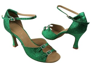 "SERA1620 Green Stardust with 3"" heel in the photo"