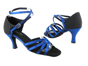 1606 247 Gem Blue Satin_83 Black Suede
