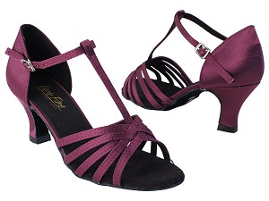 "1612 111 Purple Satin with 2.5"" Low Heel in the photo"